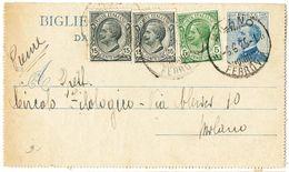 R774) V.E.III BIGLIETTO POSTALE 25 C. MICHETTI MILL. 23 VIAGGIATO - Interi Postali