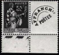 FRANCE - 55 C. Paix  Préo Neuf Non Signalé Probablement Avec FAUSSE SURCHARGE - Varieties: 1931-40 Mint/hinged