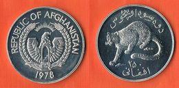 Afghanistan 250 Afgahis - 1978 - Snow Leopard - Silver - Afghanistan