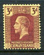 Cayman Islands 1921-26 KGV (Wmk. Mult. Script CA) - 3d Purple On Yellow HM (SG 75) - Kaimaninseln