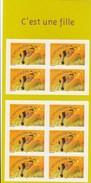 C'EST UNE FILLE  ABEILLE  B C 40-  N° 3634 - KlebeBriefmarken