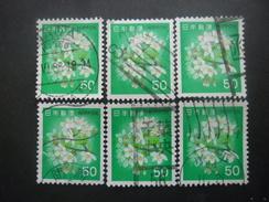 JAPON N°1345 X 6 Oblitéré - Japon
