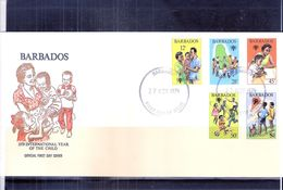 FDC Barbados - International Year Of The Child - 1979 - Complete Set - Barbades (1966-...)