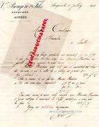 49- ANGERS- RARE LETTRE VVE BOUGERE & FILS- 1901- BANQUE- BANQUIERS- - Bank & Insurance