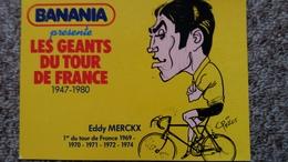 CPSM EDDY MERCKX 68 EME TOUR DE FRANCE CYCLISTE 1981 LES GEANTS DU TOUR BANANIA CYCLISME CARICATURE - Cyclisme