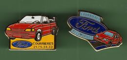 FORD *** COURRIERES *** Lot De 2 Pin's Differents *** A003 - Ford