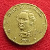 Dominicana 1 Peso 2000 Dominican Republic - Dominicana