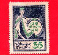 LETTONIA - LATVIJA - Nuovo - 1919 - Indipendenza - Primo Anniversario Della Liberazione - Allegoria - 35 - Latvia