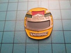 Pin413e Pin's Pins / SPORT FORMULE 1 CASQUE AYRTON SENNA NACIONAL MARLBORO , Belle Qualité !!! - F1