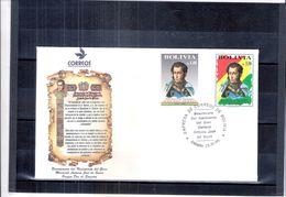 FDC Bolivie - Maréchal Antonio José De Sucre - Série Complète 1995 - Bolivie