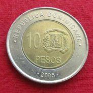 Dominicana 10 Pesos 2005 KM# 106 Dominican Republic - Dominicana