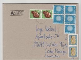 Schweiz XX004 / Brief, Buntfrankatur  Nach Spanien - Switzerland