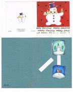 GRAN BRETAGNA (UNITED KINGDOM)   -  BUON NATALE (MERRY CHRISTMAS) LOT OF 4 -  USED - - Christmas