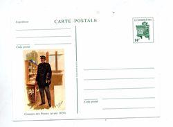 Carte Postale 14 F Boite Illustré Commis - Stamped Stationery