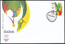 Croatia 2016 / Olympic Games Rio De Janeiro / FDC - Croatie