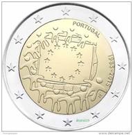 Portugal  2 Euro Cc  2015  - 30ªbandeira Europa  -UNC - Portugal