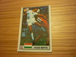Győző Martos Hungary Ferencvaros Ferencvárosi TC Football Footballer Spain World Cup 1982 Greek Ntogiakos '80s Game Card - Sports