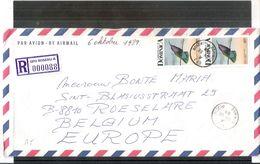 Regitered Cover From Roseau(Dominica) To Belgium - 1989 - With Content - Met Inhoud - Dominique (1978-...)