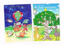 AUSTRALIA    -  BUON NATALE (MERRY CHRISTMAS) LOT OF 3 -  USED - - Christmas