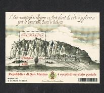 2007 SAN MARINO FOGLIETTO 4 Secoli Di Servizio Postale MNH**   MINT - Blocchi & Foglietti
