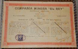 OBLIGATIONS COMPANIA MINERA EL REY MEXICO 1907 - Autres