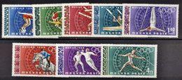 HUNGRIA 1968 - OLYMPICS MEXICO 68 - YVERT Nº PA 301-305** - Summer 1968: Mexico City
