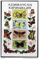 AZERBAIJAN 2005 1000m Surcharges On Butterflies Block MNH / ** - Azerbaïjan