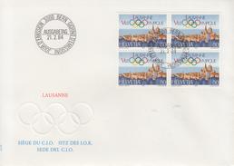 Enveloppe  SUISSE   LAUSANNE   Ville  Olympique    Oblitération   BERN   1984 - Juegos Olímpicos