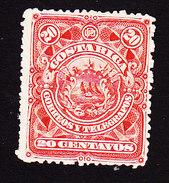 Costa Rica, Scott #39, Mint No Gum, Coat Of Arms, Issued 1892 - Costa Rica