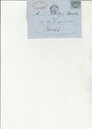LETTRE AFFRANCHIE N° 29 OBLITERATION CAD CONVOYEUR BORDEAUX A CETTE -1870 -LETTRE ENTETE G.GARRIC - Postmark Collection (Covers)
