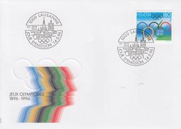 Enveloppe  FDC  1er   Jour   SUISSE   Centenaire   Jeux  Olympiques  1996 - Zomer 1996: Atlanta