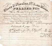1826 - LE MANS (72) - 5 Place St Nicolas - Marchand De MEUBLES Et TAPISSIER, MIROITIER - Maison PELLIER FILS - - Documentos Históricos
