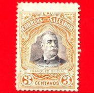 Nuovo - EL SALVADOR - 1906 - 1906 - Presidente Pedro José Escalon (1847-1923) - 3 - El Salvador