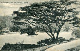 CEYLON (Sri  Lanka) - Kandy Lake From Wace Park (1928?) - Sri Lanka (Ceylon)
