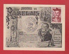 Carte Premier Jour / Journée Rabelais / St Maur Des Fossés  / 8 -  10 - 1950 /  Numérotée 004979 - Maximum Cards