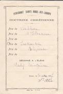 ALGERIE---ORAN  1937--pensionnat Sainte-marie-des-champs-doctrine Chrétienne---voir 2 Scans - Diplômes & Bulletins Scolaires