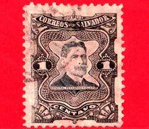 EL SALVADOR - Usato - 1910 - Generale Fernando Figueroa (1849-1919) - 1 - El Salvador