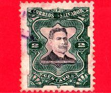 EL SALVADOR - Usato - 1910 - Generale Fernando Figueroa (1849-1919) - 2 - El Salvador