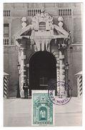 """1943 - CARTE MAXIMUM """" LA PORTE DU PALAIS (PRESIDENTEL) """" + CACHET SPECIAL (VIOLET) Sur TIMBRE YT 260 MONACO PRINCIPAUTÉ - Maximum Cards"""