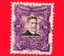EL SALVADOR - Usato - 1910 - Generale Fernando Figueroa (1849-1919) - 5 - El Salvador