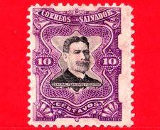 EL SALVADOR - Usato - 1910 - Generale Fernando Figueroa (1849-1919) - 12 - El Salvador