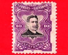 EL SALVADOR - Nuovo - 1910 - Generale Fernando Figueroa (1849-1919) - 10 - El Salvador
