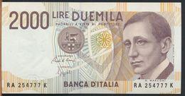 °°° ITALIA - 2000 LIRE G. MARCONI 24/10/1990 SERIE RA FDS/UNC °°° - 1000 Lire