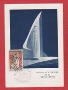 Carte Premier Jour / Mémorial De La Déportation / Natzwiller / 14 -  1 - 1956 - Maximum Cards
