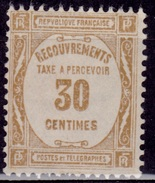 France 1927, Postage Due, 30c, Used - Postage Due