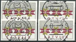 LETTLAND 1994 AUTOMATENMARKEN Mi-Nr. ATM 1 S1 O Used - Aus Abo - Latvia