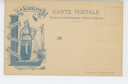 """PUBLICITE - Belle Carte PUB Pour """"LA KABYLINE - Véritable Teinture Des Ménages """" - Publicité"""