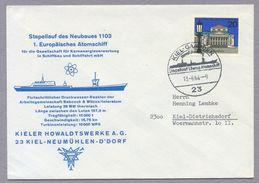 Germany Bund 1964 Umschlag Cover Stapellauf Des 1. Europäisches Atomschiff Kiel Gaarden Kieler Howaldtswerke A.G. - Ships
