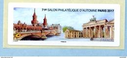 2017 SALON PHILATÉLIQUE D'AUTOMNE  Vignette Vierge BERLIN - 2010-... Viñetas De Franqueo Illustradas