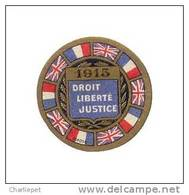 France WWI 1915 Droit, Liberte, Justice Vignette Military Heritage Poster Stamp - Military Heritage